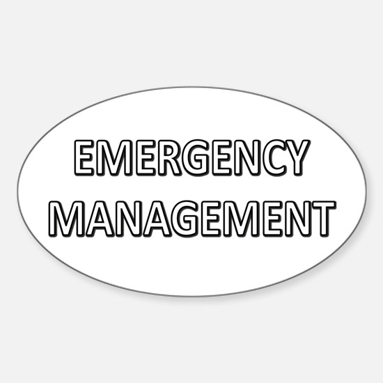 Emergency Management - White Sticker (Oval)