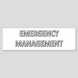 Emergency Management - White Sticker (Bumper)