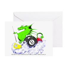 Pool Dragon Billiards Greeting Card