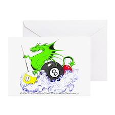 Pool Dragon Billiards Greeting Cards (Pk of 10)