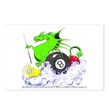 Pool Dragon Billiards Postcards (Package of 8)