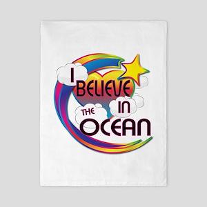 I Believe In The Ocean Cute Believer Design Twin D