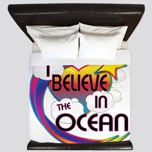 I Believe In The Ocean Cute Believer Design King D