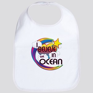 I Believe In The Ocean Cute Believer Design Bib