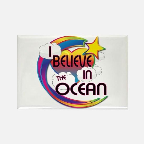 I Believe In The Ocean Cute Believer Design Rectan