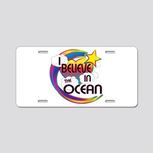 I Believe In The Ocean Cute Believer Design Alumin