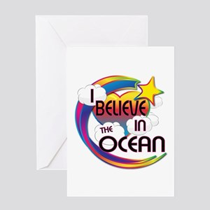 I Believe In The Ocean Cute Believer Design Greeti
