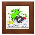 Pool Dragon Billiards Framed Tile