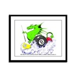 Pool Dragon Billiards Framed Panel Print
