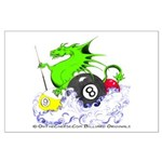 Pool Dragon Billiards Large Poster