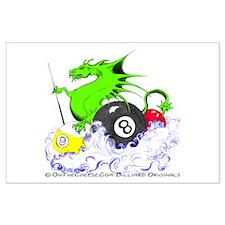 Pool Dragon Billiards Large Poster