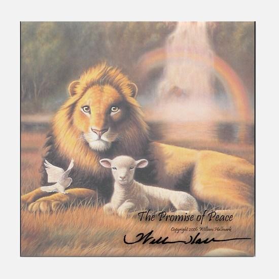 """The Promise of Peace"" Fine Art Tile Coaster"