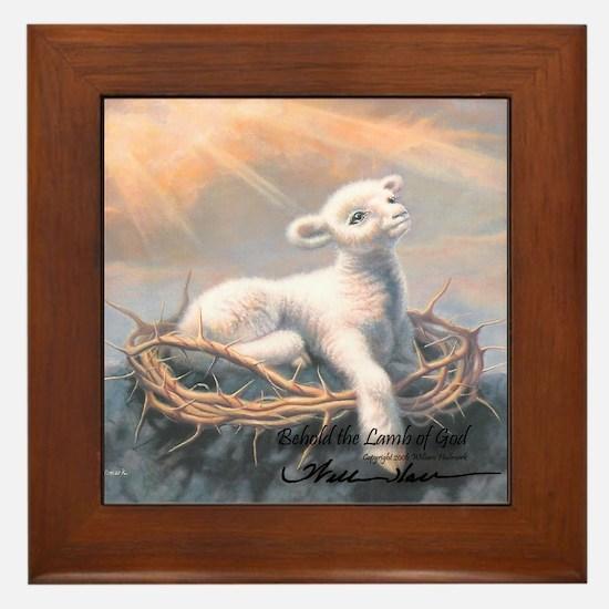 """""""Behold the Lamb"""" Fine Art Framed Tile"""