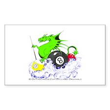 Pool Dragon Billiards Sticker (Rectangle 10 pk)