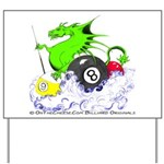 Pool Dragon Billiards Yard Sign