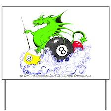 Pool Dragon Billiards Yard Sign