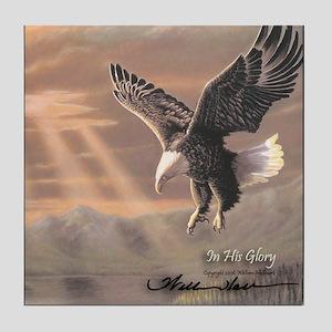 """Eagle """"In His Glory"""" Fine Art Tile Coaster"""