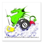 Pool Dragon Billiards Square Car Magnet 3