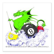 Pool Dragon Billiards Square Car Magnet 3