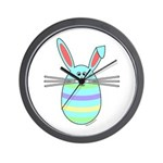 Easter Egg Bunny Wall Clock