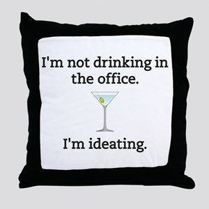 Drinking in the Office Throw Pillow