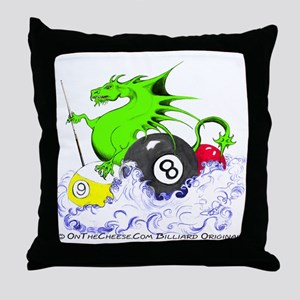 Pool Dragon Billiards Throw Pillow