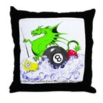 Pool Dragon Billiards Throw Pillow