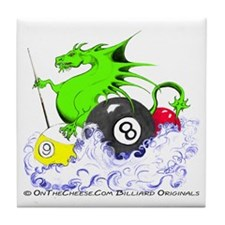 Pool Dragon Billiards Tile Coaster
