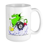 Pool Dragon Billiards Large Mug
