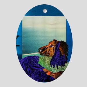 Longhaired Dachshund Ornament