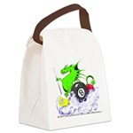 Pool Dragon Billiards Canvas Lunch Bag