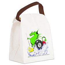 Pool Dragon Billiards Canvas Lunch Bag