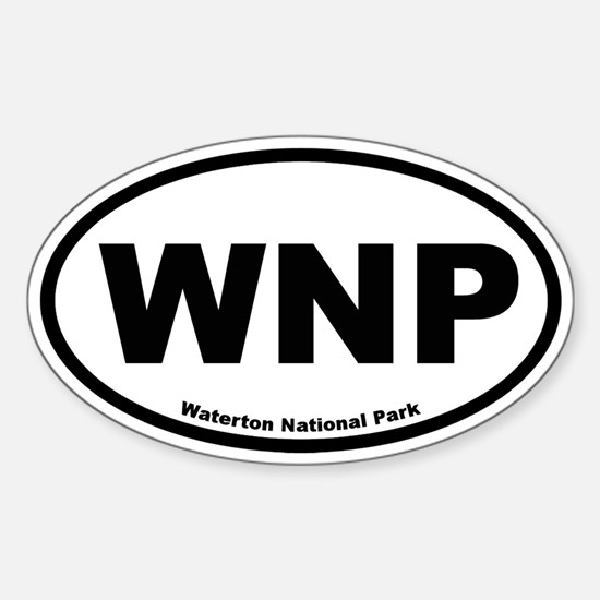 Waterton National Park Oval Decal