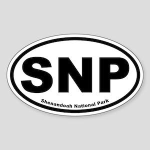 Shenandoah National Park Oval Sticker