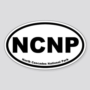 North Cascades National Park Oval Sticker