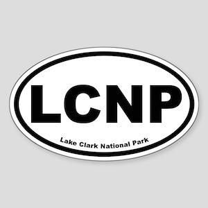 Lake Clark National Park Oval Sticker