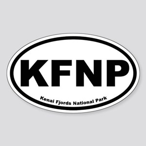 Kenai Fjords National Park Oval Sticker