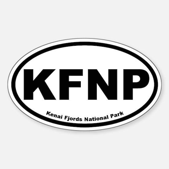 Kenai Fjords National Park Oval Decal