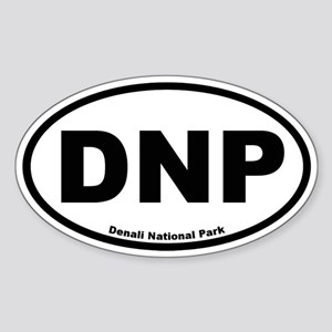 Denali National Park Oval Sticker