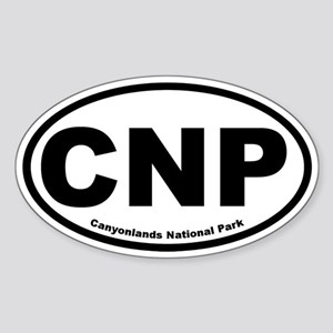 Canyonlands National Park Oval Sticker
