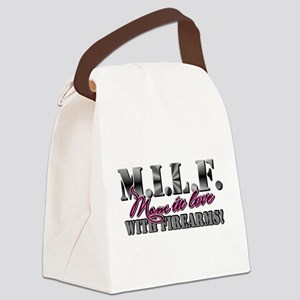 M.I.L.F. - Moms in love with firearms Canvas Lunch