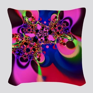 Psychedelic Groovy Swirls Woven Throw Pillow