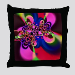 Psychedelic Groovy Swirls Throw Pillow