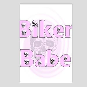 Biker Babe Skull Postcards (Package of 8)