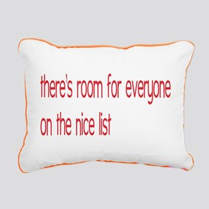 Nice List-3 Rectangular Canvas Pillow