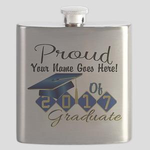 Proud 2017 Graduate Blue Flask