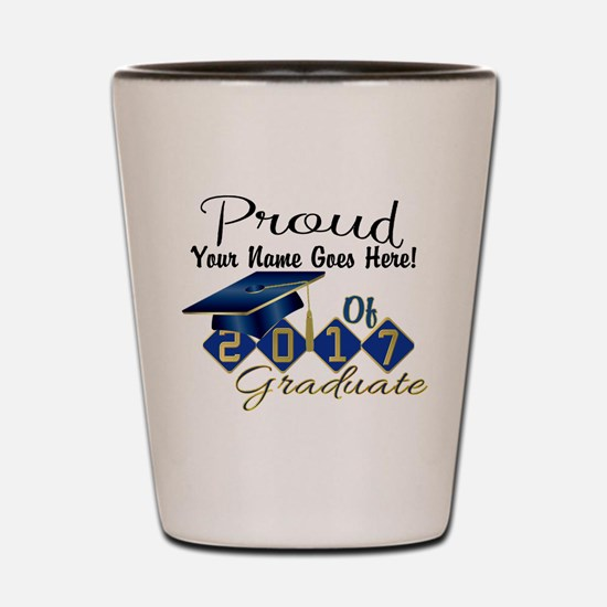 Proud 2017 Graduate Blue Shot Glass