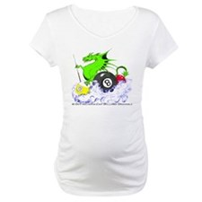 Pool Dragon Billiards Maternity T-Shirt