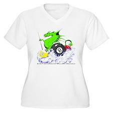 Pool Dragon Billi Women's Plus Size V-Neck T-Shirt