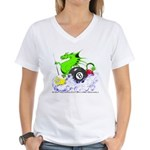 Pool Dragon Billiards Women's V-Neck T-Shirt
